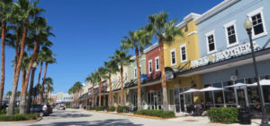 Port St. Lucie city main street and shops