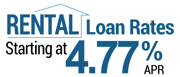 Rental loan rates starting at 4.77% APR