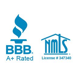 bbb a+ rating and nmls logo