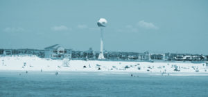 Pensacola Beach Water Tower overlooking swimmers