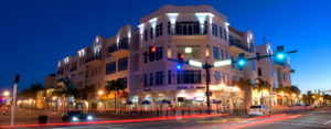 Busy Intersection and Nightlife in Downtown Punta Gorda