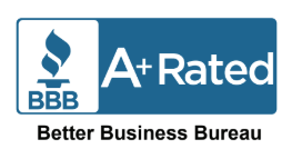 Better Business Bureau A+ Rated Blue Logo